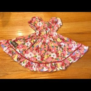 Matilda Jane Pink Floral Dress/Tunic 18m-3t